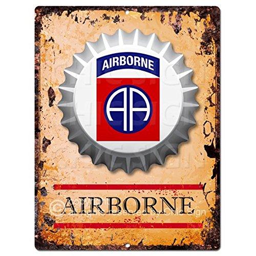 Historical flag Airborne Botella Cap Chic Sign rústico retro cocina Bar Pub Café tienda pared decoración 22,9x 30,5cm...