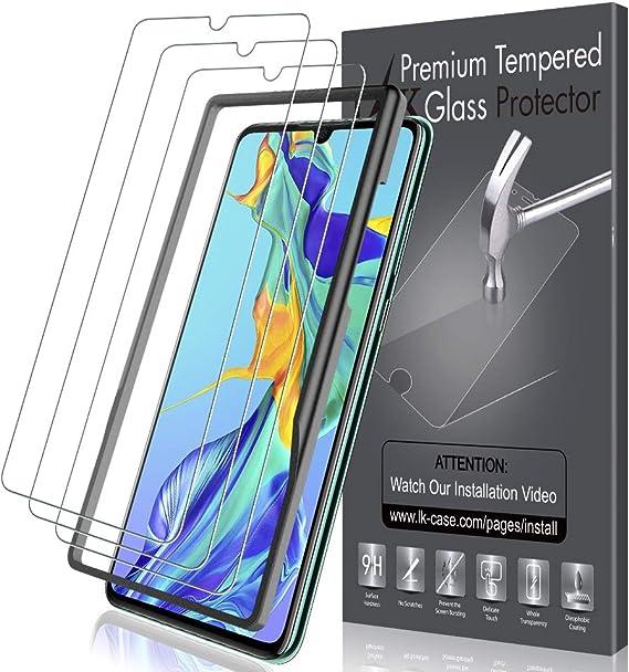 Imagen deLK Protector de Pantalla para Huawei P30 Cristal Vidrio Templado [3 Unidades][Compatible con Funda] Fácil de Instalar [Touch 3D] Templada Screen Protector