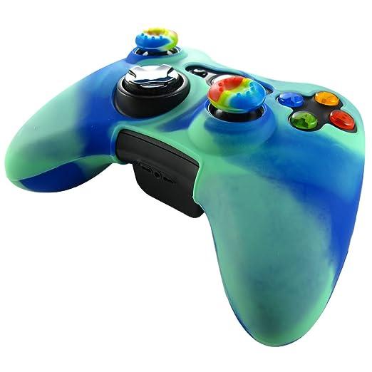 327 opinioni per Pandaren® Pelle cover skin per il Xbox 360 controller(luce verde + blu) x 1 +