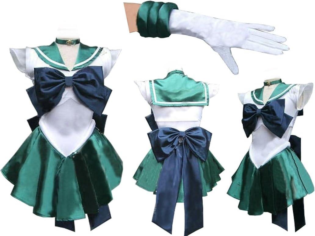 Sailor Moon Sailormoon Neptune Michelle Cosplay disfraz + guantes ...