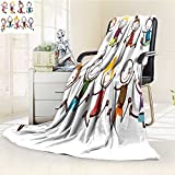 Fleece Blanket 300 GSM Anti-static Super Soft jumping kids Warm Fuzzy Bed Blanket Couch Blanket(60''x 50'')