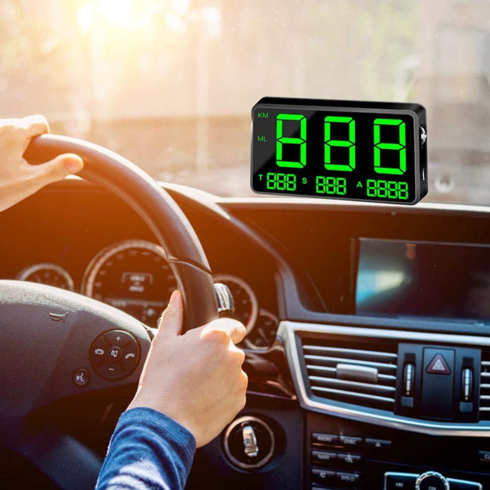 Ritapreaty Speedometer C80 Digital Car GPS Speedometer Speed Display KM//h MPH for Bike Motorcycle Car 150 X 59 X 16mm