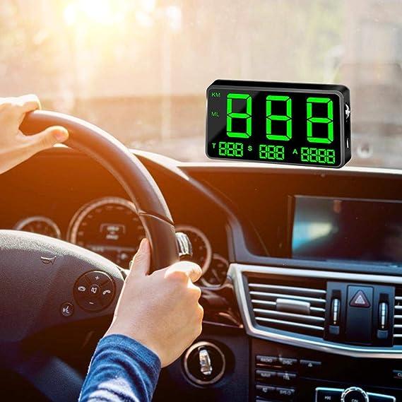 Augneveres Head Up Display C80 - Velocímetro Digital Universal para Coche, GPS, HUD, velocímetro, Pantalla de Velocidad KM/h mph para Bicicleta, Motocicleta ...