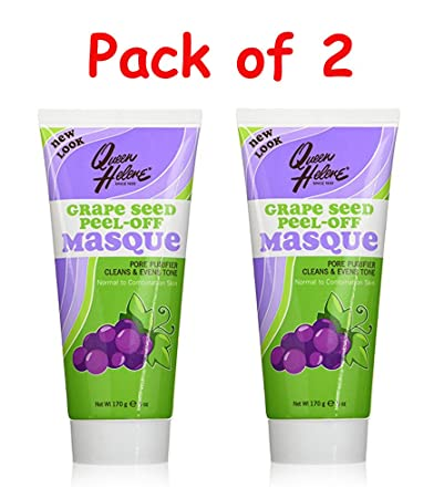 2 Pack - QUEEN HELENE Grape Seed Peel-Off Masque 6 oz Ultra Hydrating Essence Mask - Red Ginseng 10pcs