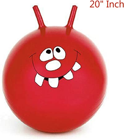 Toothy Smiley 20 Inch elebaby Space Hopper Toy for Kids Childrens Hopper Hop Ball Bouncy Ball Jump Ball Bouncing Ball for Inside and Outside(For 3 Years and up)