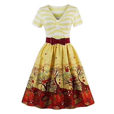 KeKeD23921 Women Vintage Dress Hepburn Retro Print Yellow Dress Robe Rockabilly Feminino Vestidos Hepburn 50s Tunic