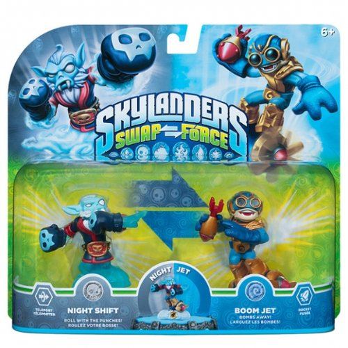 Skylanders Swap Force Night Shift and Boom Jet -