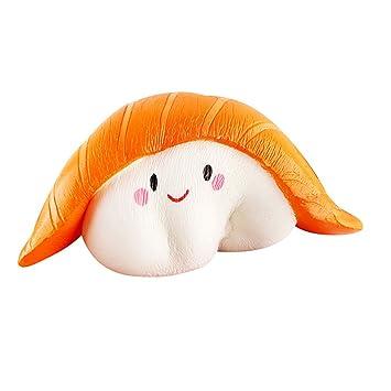 Amazemarket Jumbo Squishy Suave Simulación Salmón Sushi Slow ...