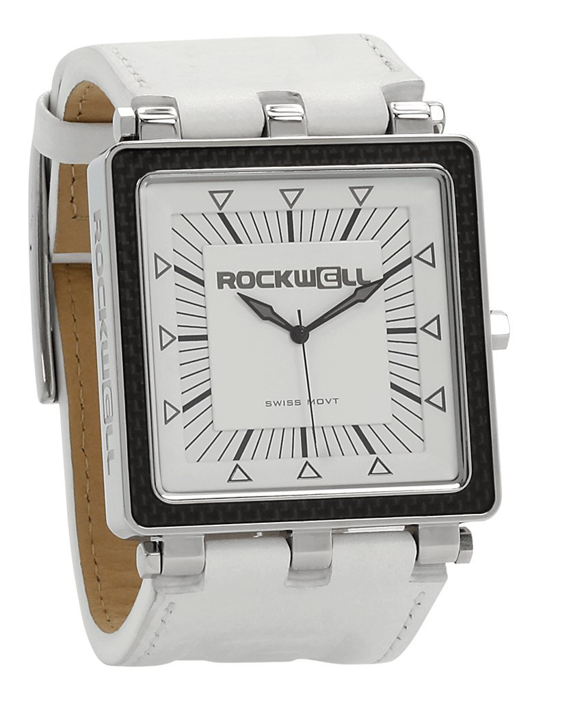 Rockwell Time Automatic Leather Casual (Model: CF128) Watch, White