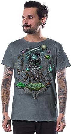 Camiseta mística para Hombre Estampado psicodélico Colorido Urban Psy Festival música Top: Amazon.es: Ropa y accesorios