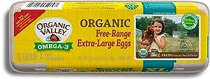 Organic Valley, Organic Omega-3 Free-Range Extra Large Brown Eggs - 1 Dozen (12 ct)