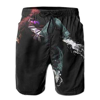 dbe63ea63e Men's Swim Trunks Hip Hop Dance Quick Dry Summer Casual Cool Beach Board  Shorts Vacation Surfing Bathing Suit   Amazon.com