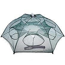 Texay(TM) Folded Portable Hexagon 6 Hole Automatic Fishing Shrimp Trap Fishing Net Fish Shrimp Minnow Crab Baits Cast Mesh Trap