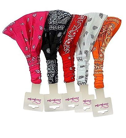 Amazon.com: Bandana Headband-Paisley Bandana Headband Wrap ...