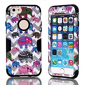 iPhone 6 Case,iPhone 6 case for girls,Creativecase iPhone 6 4.7 inch Case fashion beautiful picture 3in1 hybrid hard soft design iphone 6 case for girls cover for iphone 6 4.7 inch A1#7Q
