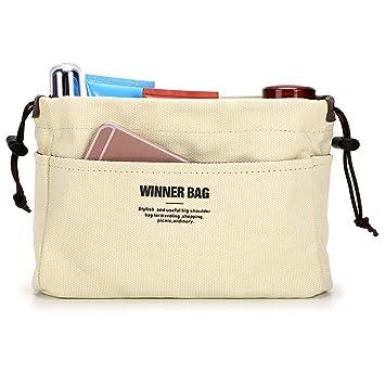 Ignpion 10 Pockets Tote Bag Organiser Insert Pouch Felt Handbag