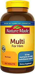 Nature Made Multi for Him Vitamin and Mineral, 300 Tablet