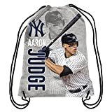 Forever Collectibles AARON JUDGE NEW YORK YANKEES PLAYER PRINTED DRAWSTRING BACKPACK