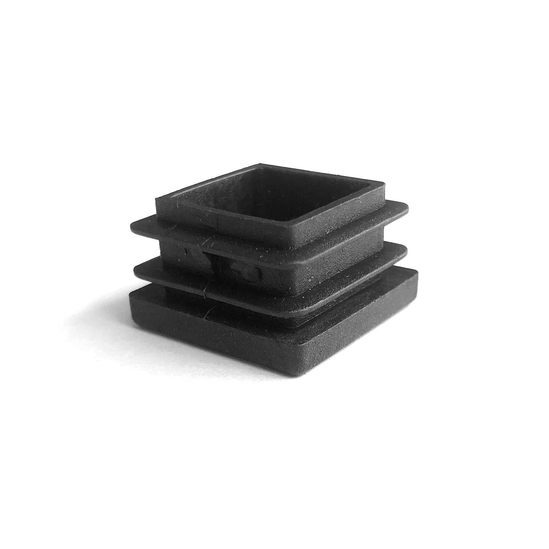 YouU 16 Pcs Square Tubing Black Plastic Plug 50x50mm//2x2 2 Inch End Cap Fence Post Pipe Cover Tube Chair Glide Insert Finishing Plug Heavy Duty Tubing Post End Cap