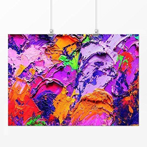Pôster - Abstrato pintura 2 colorida 29x42cm