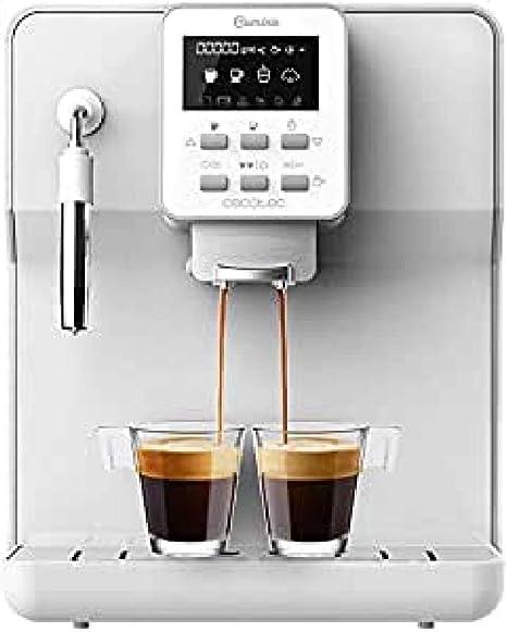 Cecotec cafetera megautomática Power Matic ccino 6000 Serie Bianca. 19 Bares,1 2 cafés, Sistema de rápido Calentamiento, Pantalla LCD, depósito café