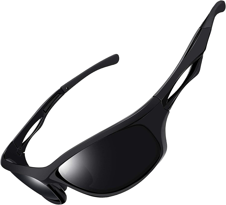 Joopin Gafas de Sol Deportivas Polarizadas con Protección UV 400 Gafas de Ciclismo, Bicicleta Montaña Moto, Golf y Deportes al Aire Libre para Hombres y Mujeres
