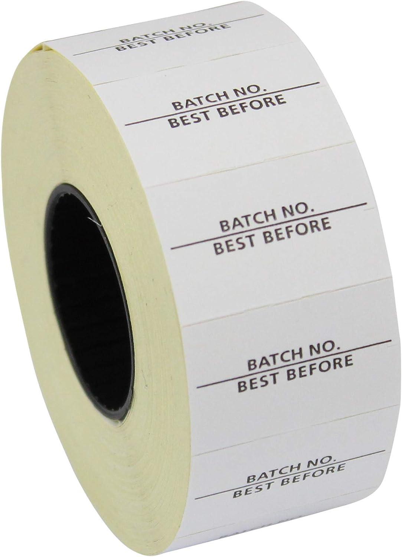 PantherTM PL-2616 10//7 Lot de 10 000 /étiquettes de cong/élation blanches avec inscription /« Best Before/»