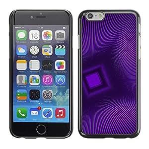 FECELL CITY // Duro Aluminio Pegatina PC Caso decorativo Funda Carcasa de Protección para Apple Iphone 6 Plus 5.5 // Polygon Stripes Pattern 3D