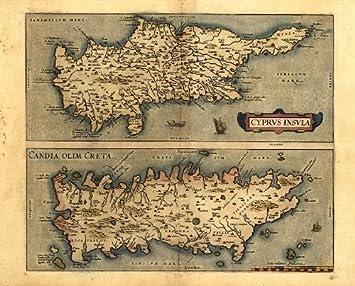 Carte Crete Chypre.Ofa Mapping Reproduction De La Carte Des Iles De La Mer