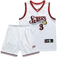 SSRSHDZW NBA Jersey Iverson No. 3 76ers Iverson Suit 10th Anniversary Retro Blue