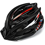 pidien Bike Helmet, Ultra Lightweight Cycle Helmet with Adjustable Visor, ECO-Friendly Adult Helmet with Tail Light for Safety Protection