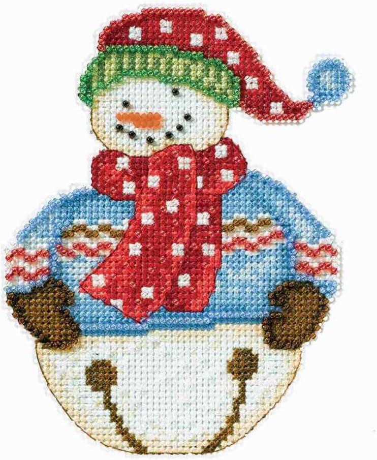 JINGLE DM20-4101 SNOWBELLS by DEBBIE MUMM Mill Hill Counted Cross Stitch Kit