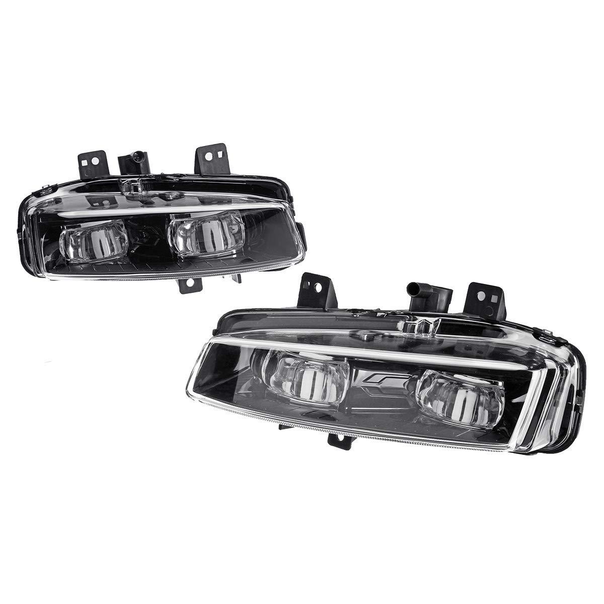 Kungfu Mall Car LED Front Bumper Fog Lights White Lamp for Range Rover Evoque Dynamic 2011-2016