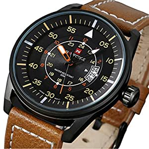 top 15 best military watches 2017 boot bomb featuring a genuine leather strap the tamlee quartz watches auto date clock comes qualities that most of the time you can only in high end
