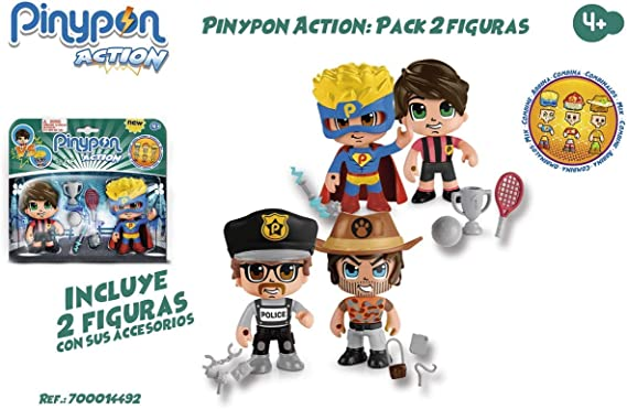 Famosa- PinyPon Action Pack 2 Figuras 22x20 cm, Multicolor, 22 x ...