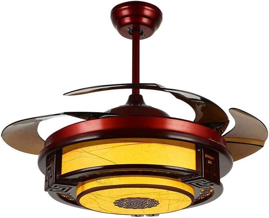 Luz del ventilador Estilo chino de techo invisible lámpara ...