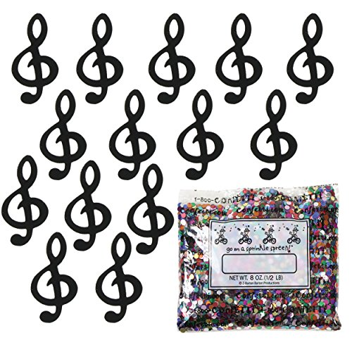 Confetti Music Clef Note Black - One Pound Bag (16 oz) FREE SHIPPING --- - Black Bag Jimmy