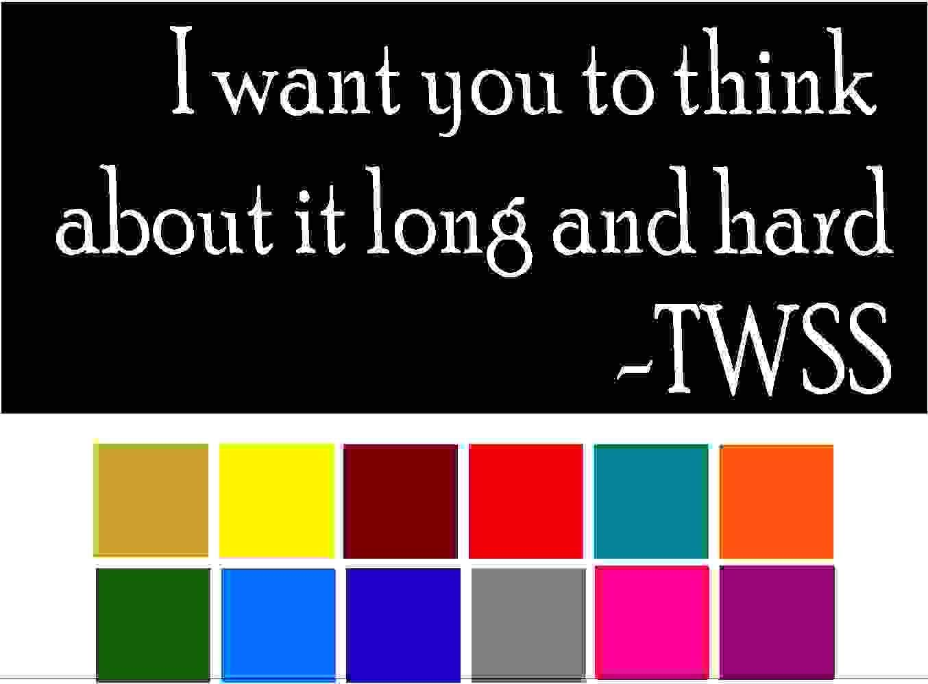 Saying Thats What She Said I want you to Think About it Long and Hard Car Window Tumblers Wall Decal Sticker Vinyl Laptops Cellphones Phones Tablets Ipads Helmets Motorcycles V and T Gifts