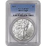 2015 American Silver Eagle $1 MS69 PCGS