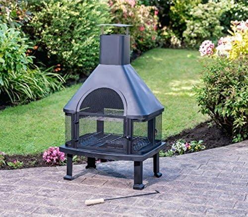 Scotrade - Chimenea de jardín Toronto ideal para añadir calidez y ambiente en el jardín.: Amazon.es: Jardín
