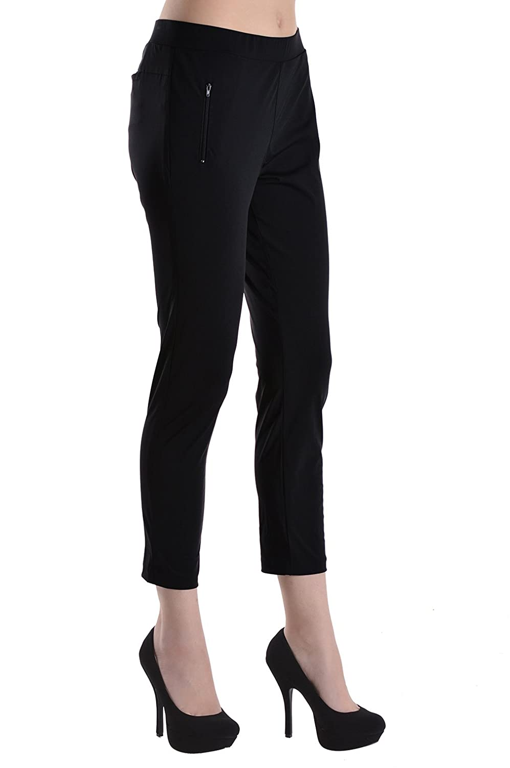 !It Collective Women's Stretch Slim Pants Trousers