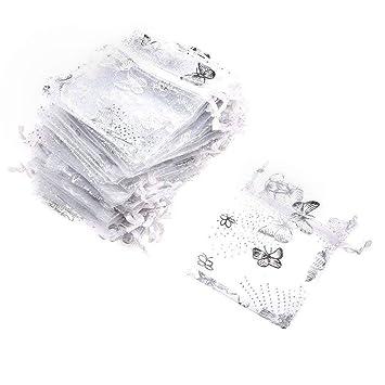 100 Piezas Bolsa Organza Organza Bags, PLECUPE 13x18cm ...