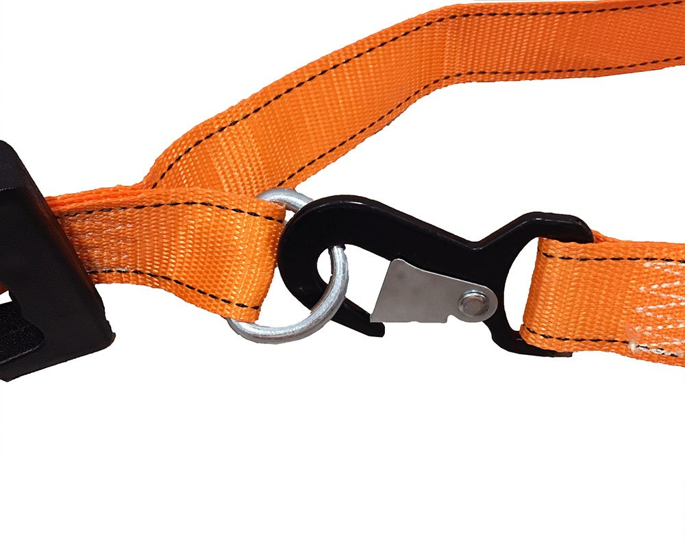 2 Heavy Duty Motorcycle Ratchet Tie Down Straps Landscaping Equipment Dirt Bikes Utvs Atvs Kayaks Cargo Accessory Securing Motorcycles 8 x 1-1//2 Safety Snap Hooks /& Soft-tie D Ring
