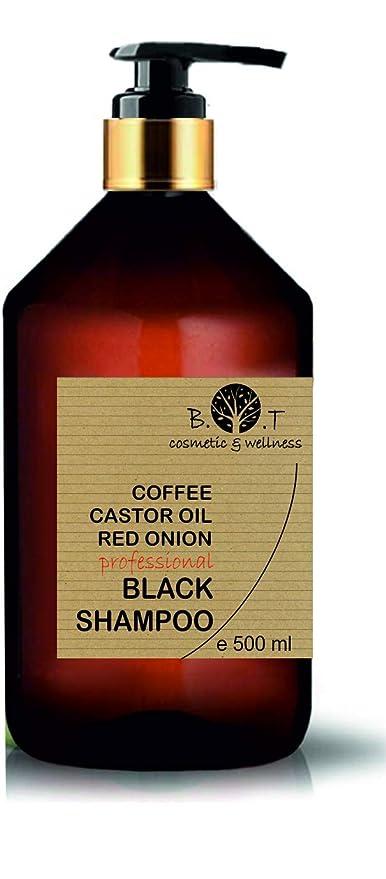 Black Champú Café Ricino y Extracto de Cebolla Detox Anti Polución Crecimiento y Volumen Todo tipo