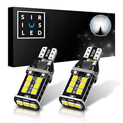 SIRIUSLED 2835 PX Chipset Extremely Bright 800 Lumens Canbus Error Free SMD LED Bulbs for Car Reverse Backup Brake Tail Lights 921 912 906 T15 6000K Xenon White: Automotive [5Bkhe0907682]
