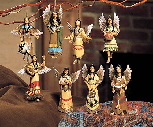Native American Tree Ornaments (Southwest Angel Christmas Ornaments, Native American, Set of 8)