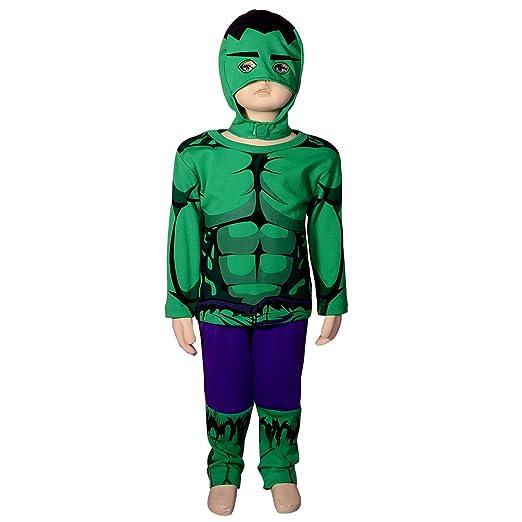 Dressy Daisy Boysu0027 Incredible Hulk Avenger Superhero Costume Halloween Party Size 2T-3T  sc 1 st  Amazon.com & Amazon.com: Dressy Daisy Boysu0027 Muscle Incredible Hulk Avenger ...