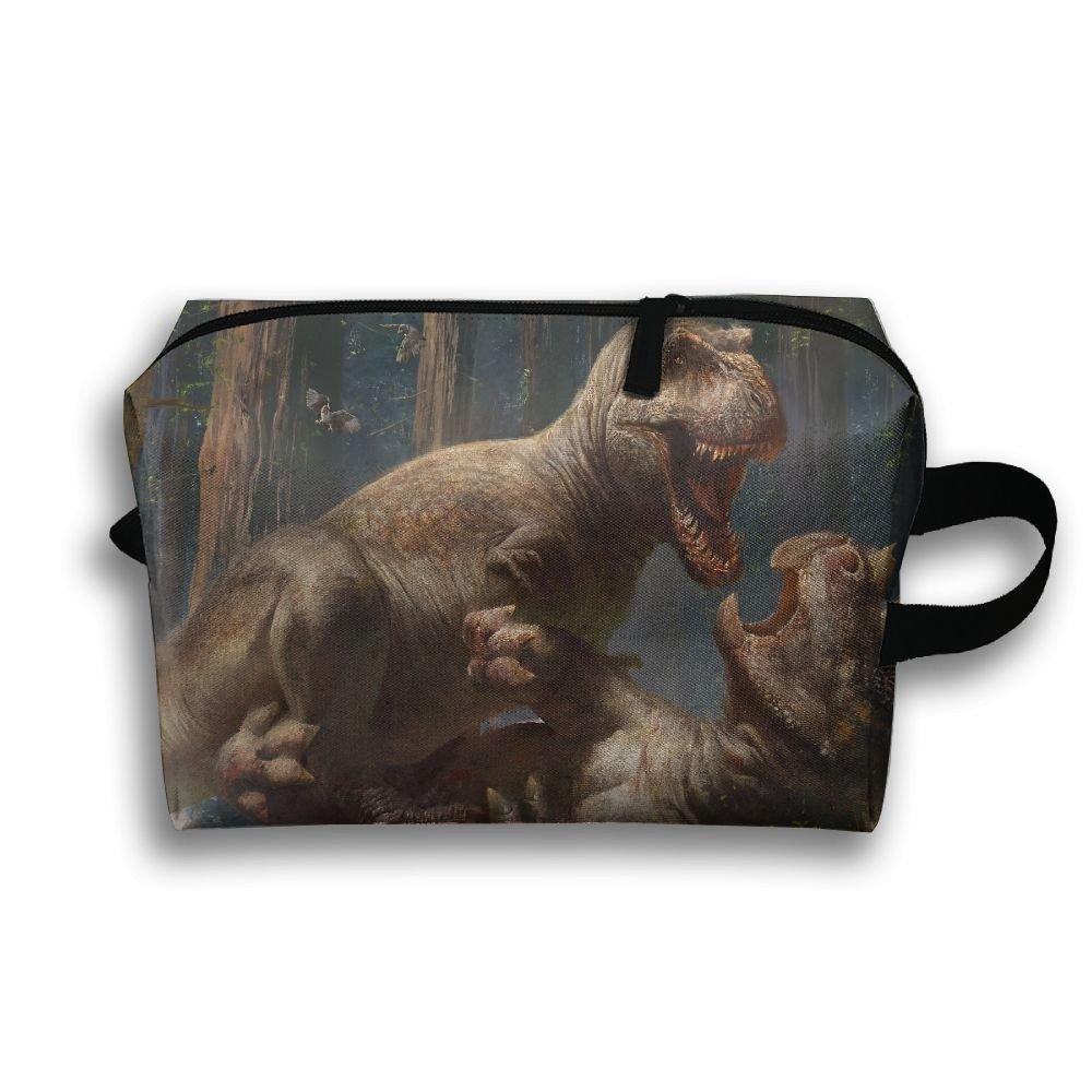 Pengyong Dinosaur Wrestling Small Travel Toiletry Bag Super Light Toiletry Organizer For Overnight Trip Bag