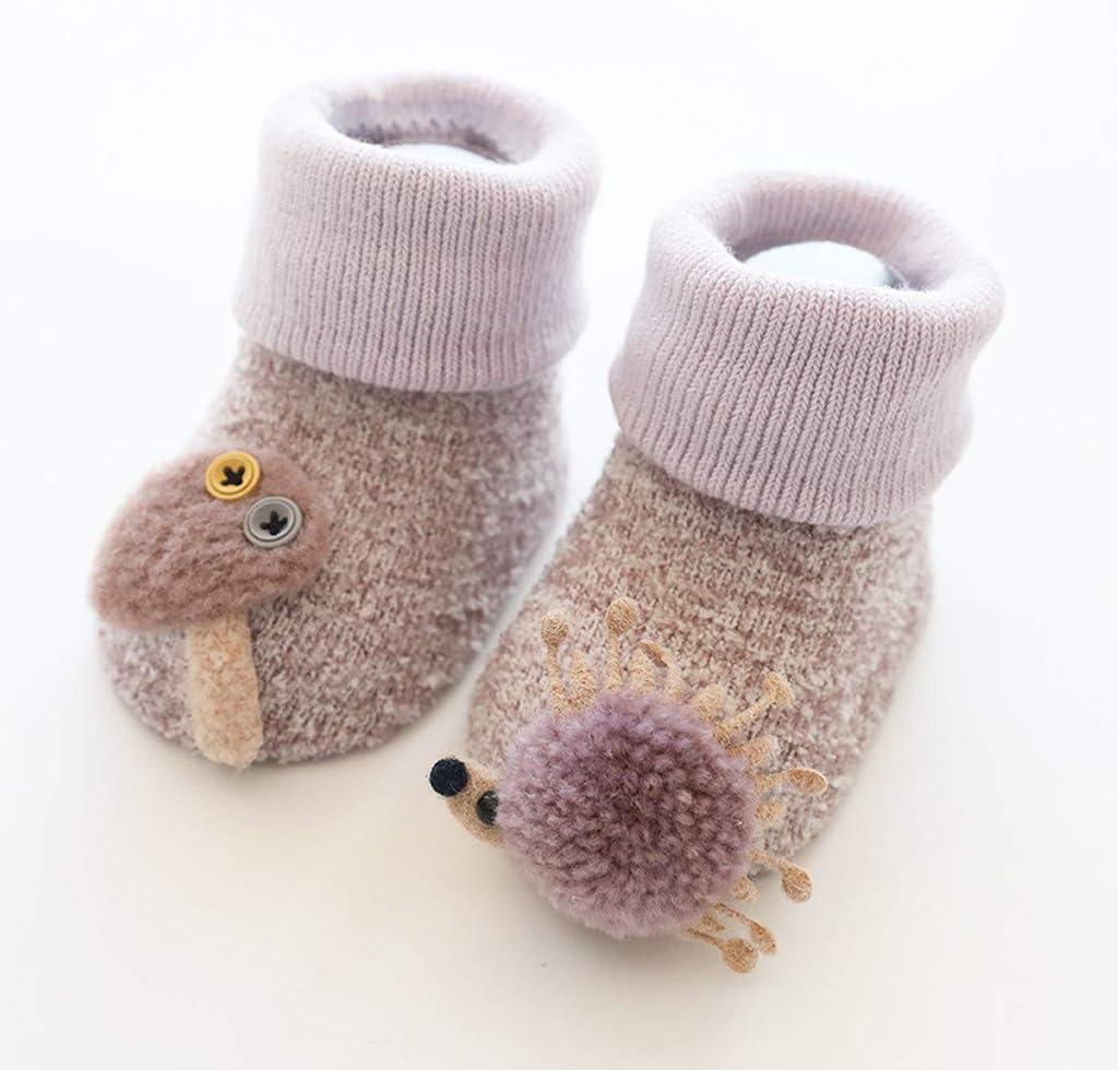 Baby Plush Soft Sole Winter Warm Knitting Crib Shoes Boots Anti-Slip Floor Socks