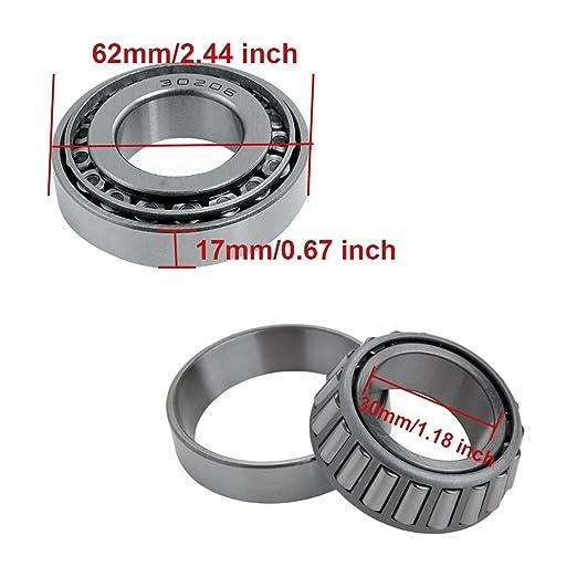 Color : 5x16x8mm LDDJ Bearing 2Pcs 5x16x8mm//6x16x8mm Guide Roller Bearing High Carbon Chrome Spherical Raceway Ball Bearing Steel Metal Material